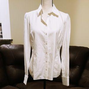 NWT Banana Republic White Long Sleeve Blouse